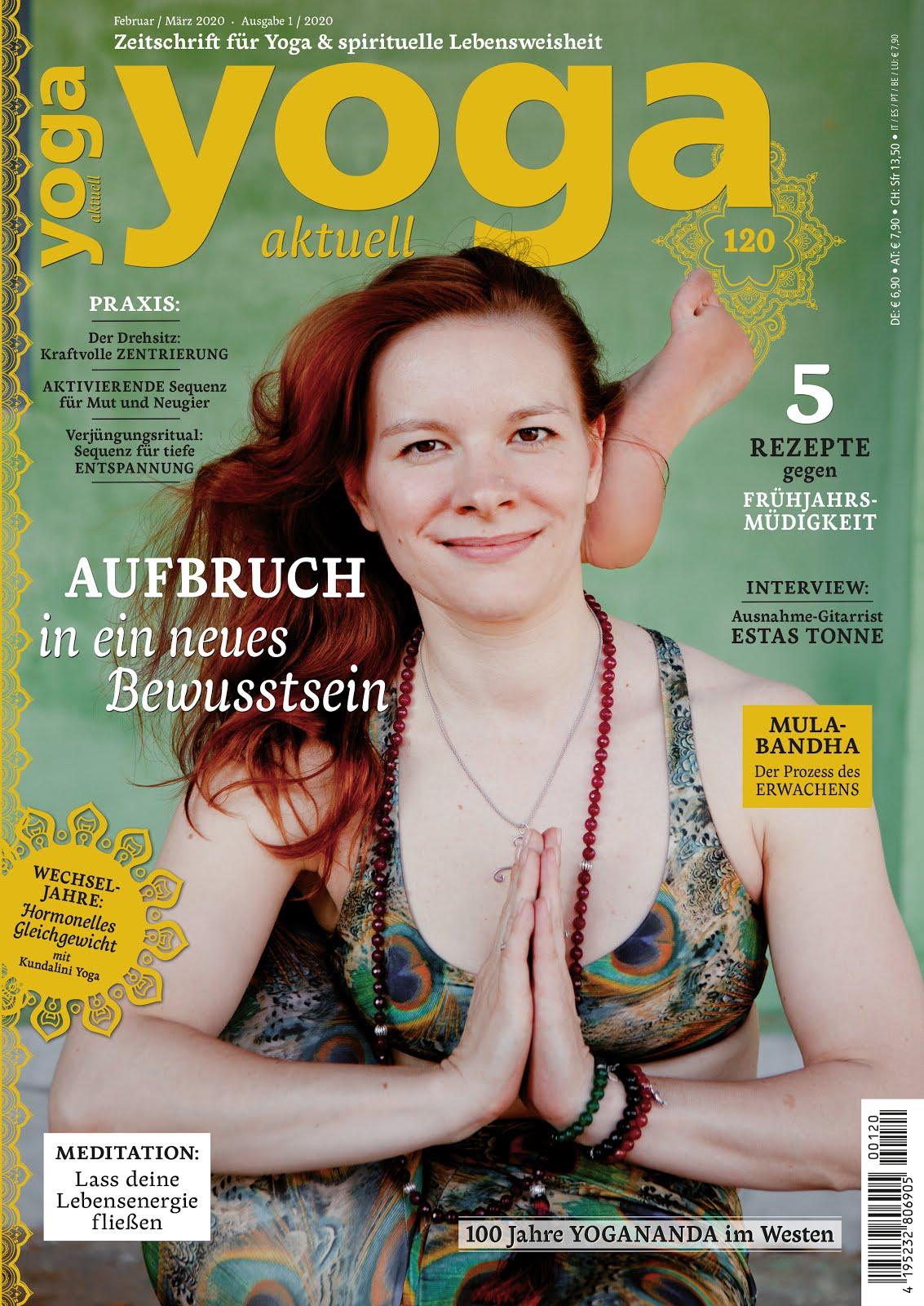 My articles in<br>Yoga Aktuell Magazine:<br>Eltern-Kind-Beziehunger Heilen<br>Yoga Aktuell 120