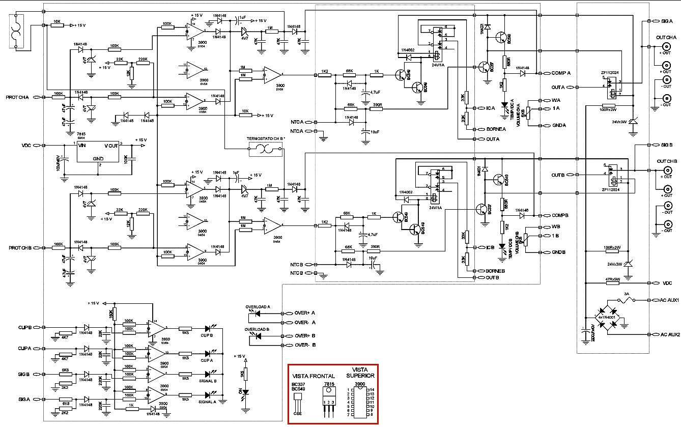 infinity basslink t 250watts powered sub woofer system wiring input section circuit diagram