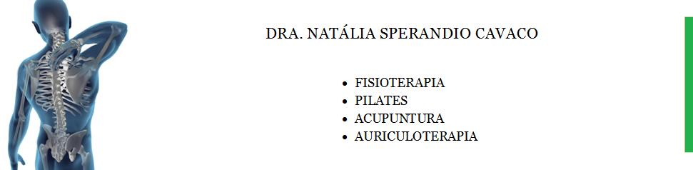 Dra. Natália Sperandio Cavaco