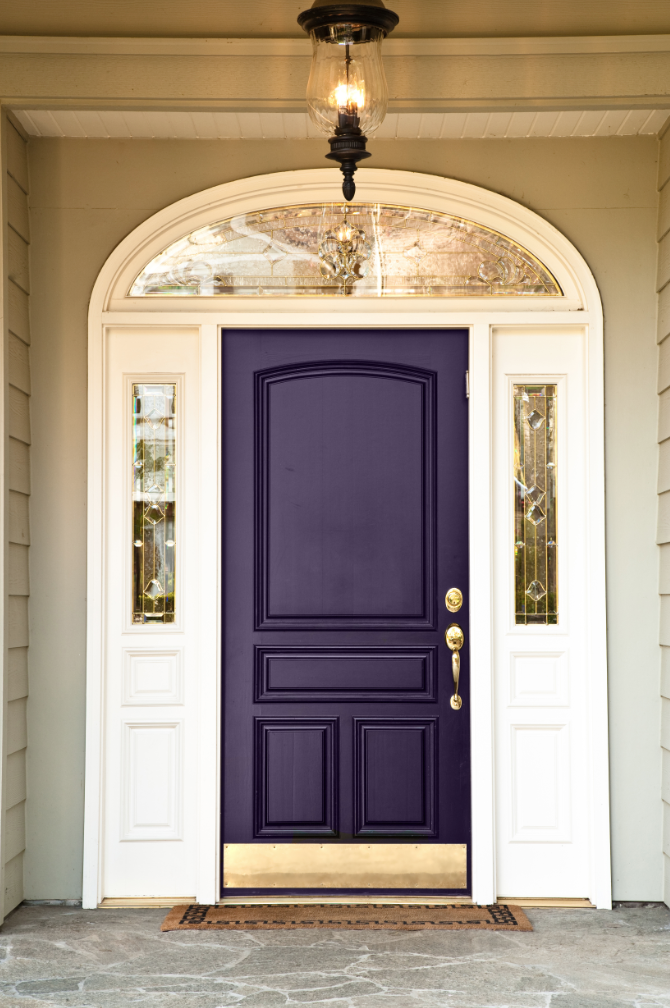 Unique houses what does the color of your front door say for Front entrance doors
