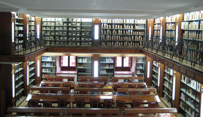 Ligar en una biblioteca
