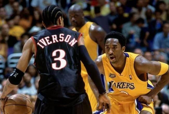 Kobe Bryant - 2001 NBA Finals - Kobe and Allen Iverson - HoopsVilla