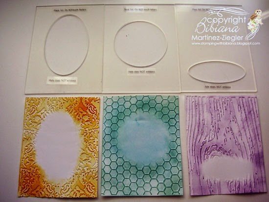DIY embossing diffuser samples