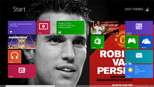 Robin Van Persie Manchester United Windows 7 And 8 Theme