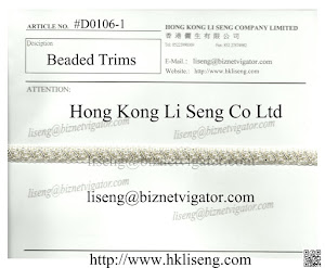 Beaded Trims Manufacturer and Supplier - Hong Kong Li Seng Co Ltd
