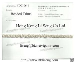 Beaded Trims Manufacturer and Supplier - Hong Kong Li Seng Co Ltd