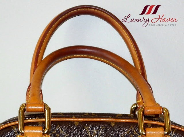 louis vuitton leather handles review
