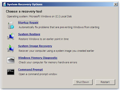 master boot record windows 7