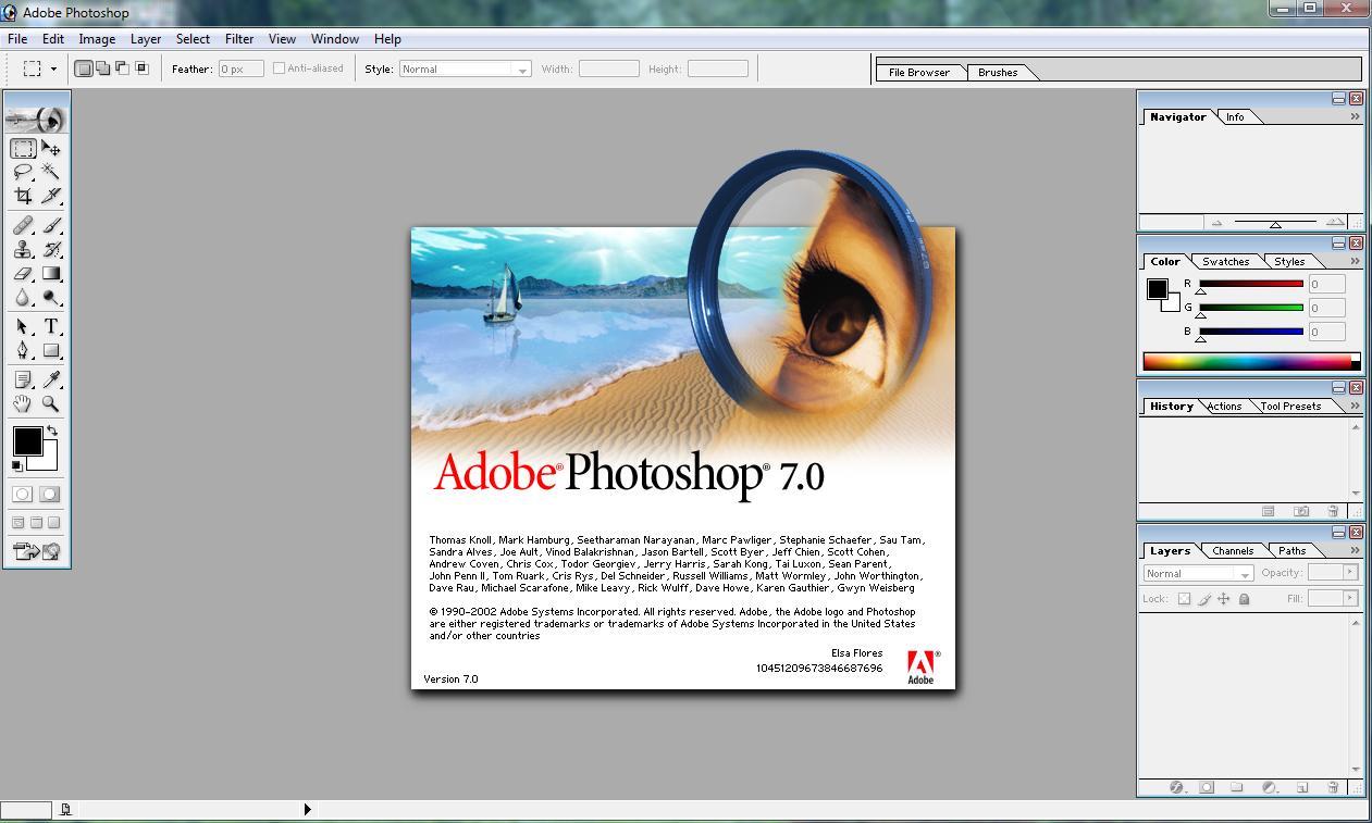 adobe photoshop 7 бесплатно: