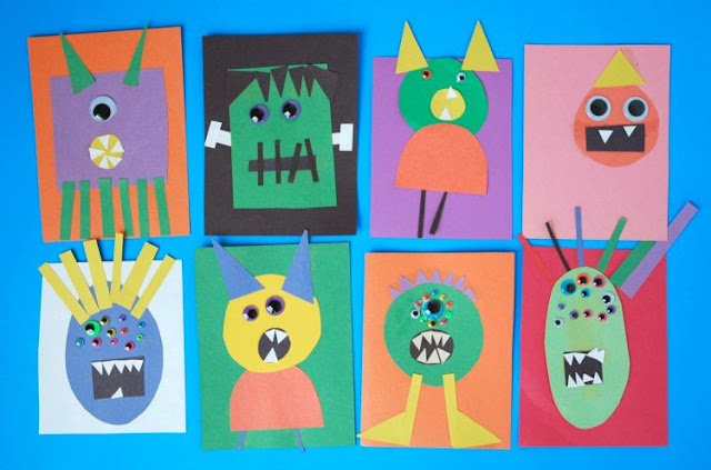Paper monster craft for Halloween