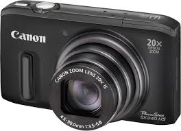 Máquina Fotográfica Canon PowerShot perfil direito