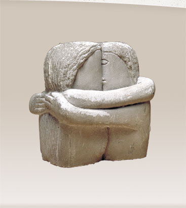Historic Photos 1913 Photo The Kiss Bust Sculpture of a Couple Kissing by Constantine Brancusi exhibited at The Armory Show of The Association of American Painters and Sculptures New York.
