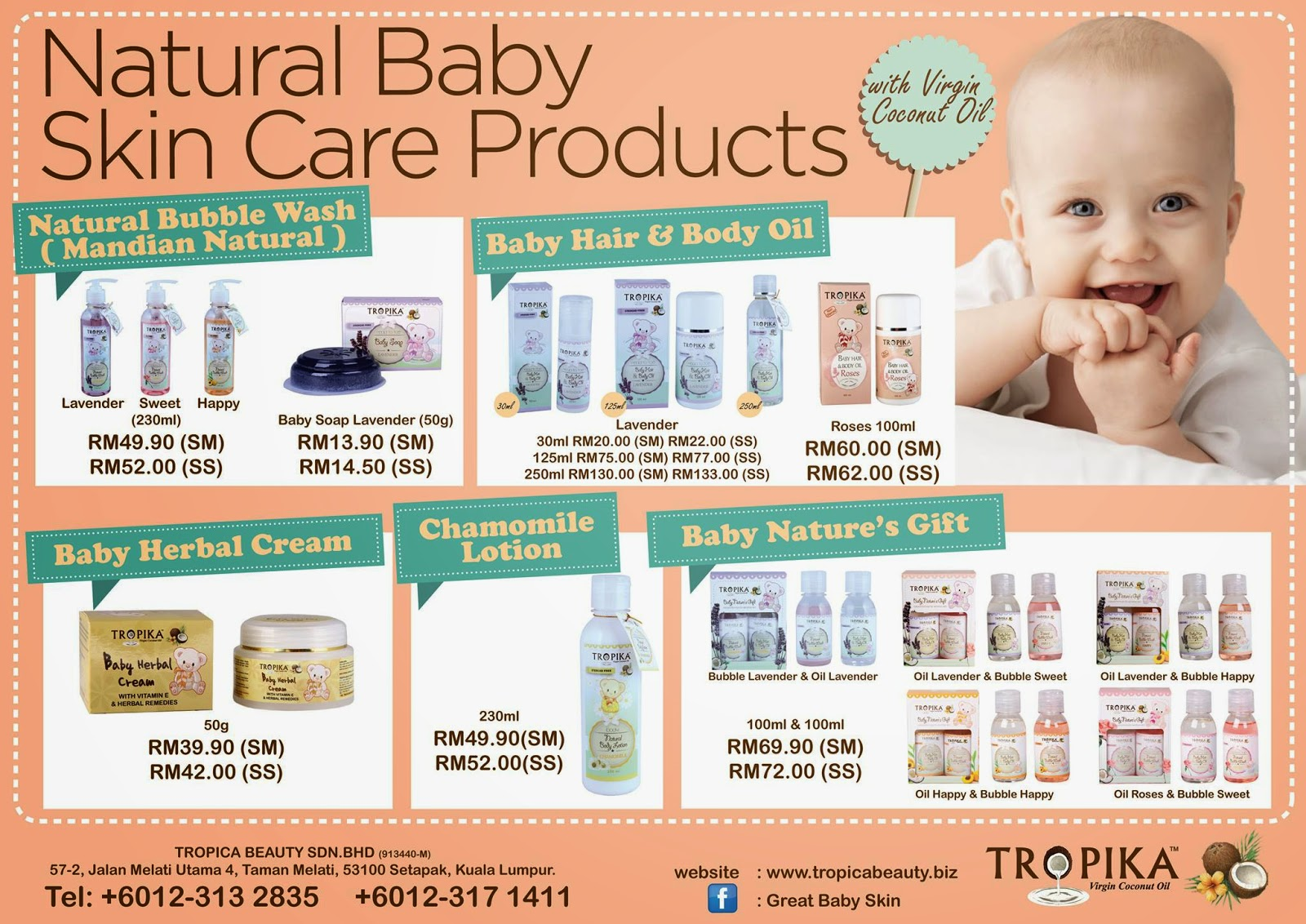 natural baby skin care Tropika beauty