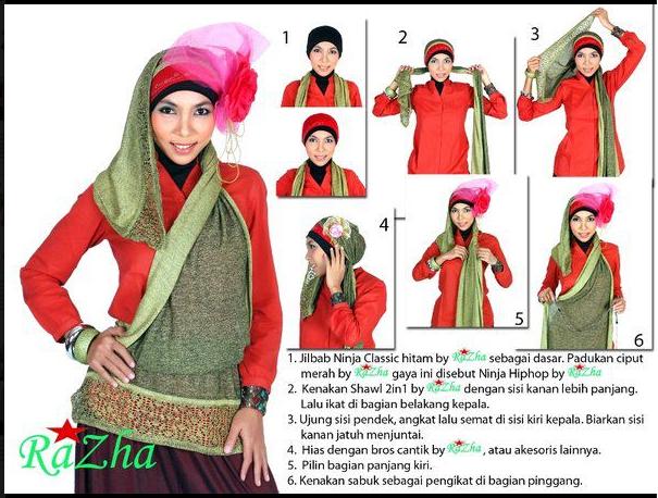 Cara Memakai Shawl Rania Tutorial Memakai Jilbab Hijab Modis | Apps ...