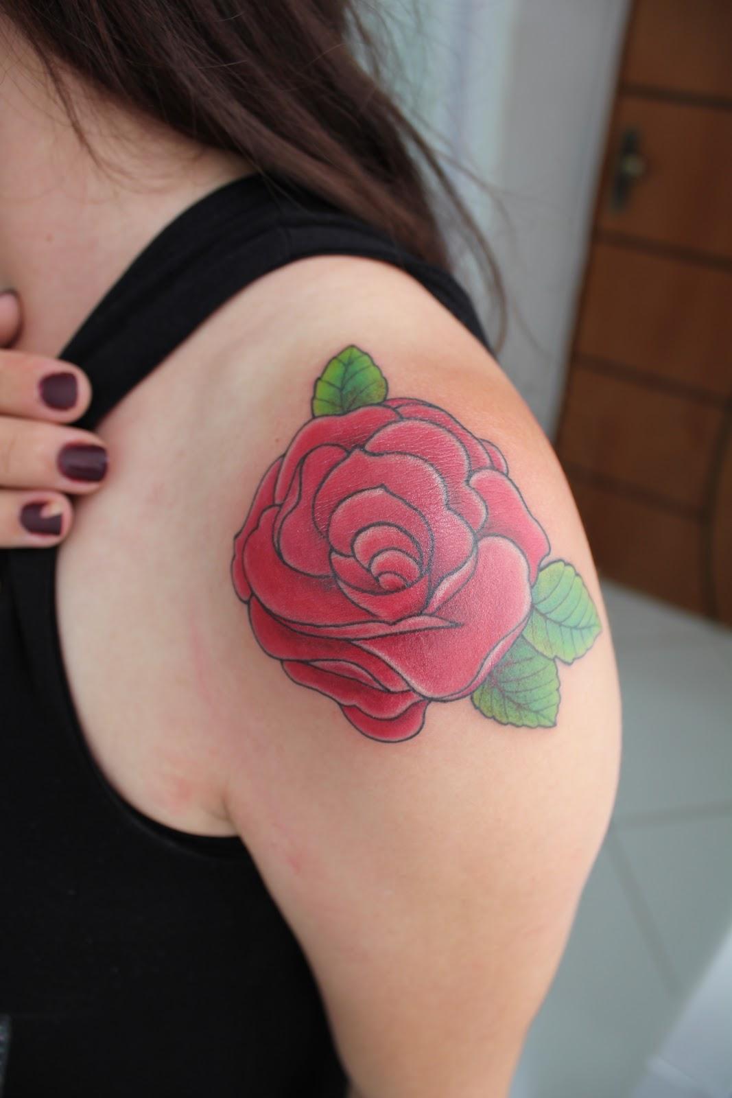 Tatuagem Rosa - Rose TattooSatyagraha Tattoo