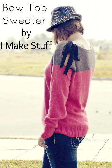 diy bow tie top sweater