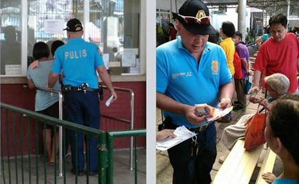 Filipino Cop Buys Anti-Rabies Medicine For An Old Beggar Woman