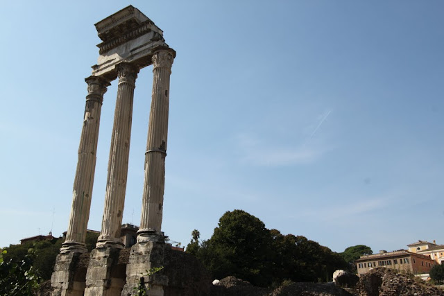 Temple of Castor & Pollux at Roman Forum in Rome, Italy
