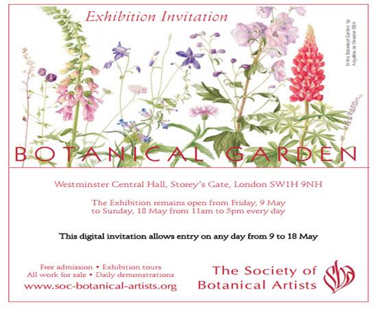 Society of Botanical Artists Exhibition Invitation