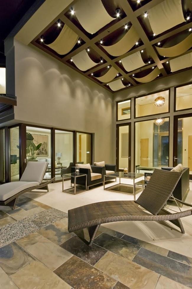 Salas con techos modernos salas con estilo for Techos modernos