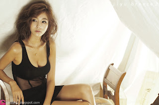 6 Lee Ji Min in Black-very cute asian girl-girlcute4u.blogspot.com