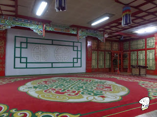 Performance hall of the Tumen Ekh Ensemble.