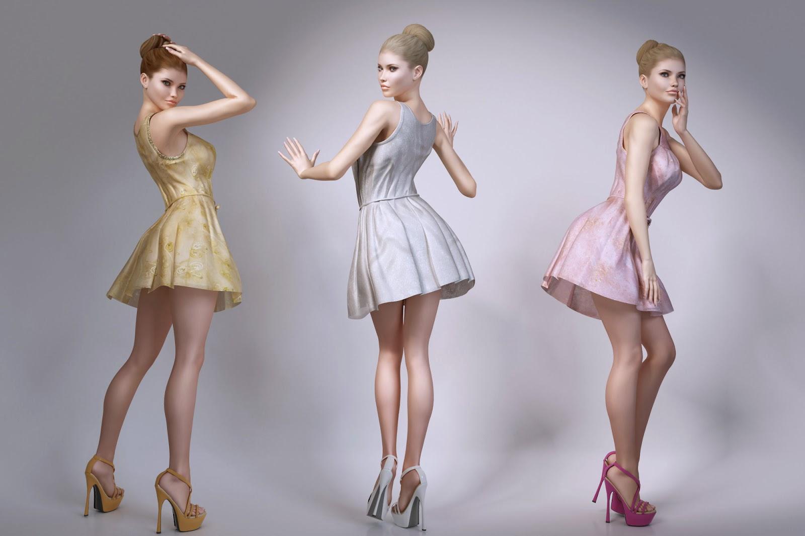 3d models girls sexy scene