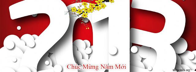Ảnh bìa facebook đẹp chúc mừng năm mới 2013