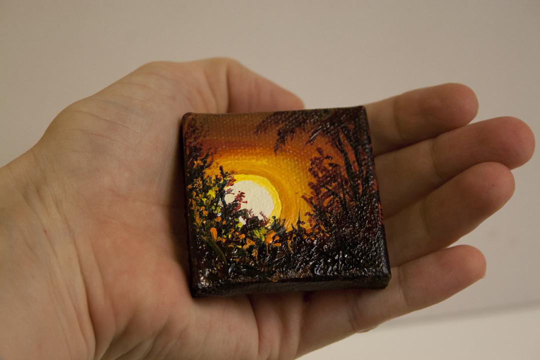 melissa adams art glimpses a miniature landscape painting
