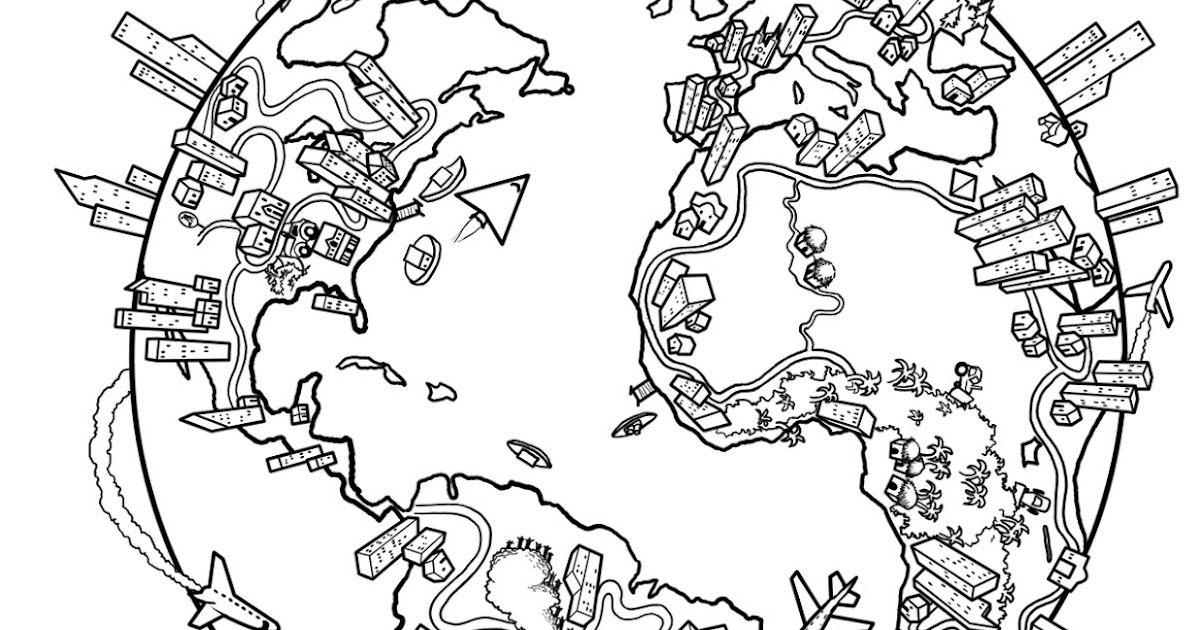 globe printable coloring pages - photo#45
