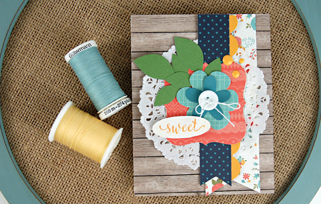"""Sweet"" Family die cut card designed by Jen Gallacher for Scrapbook and Cards Today Magazine. Includes #cardprocessvideo."