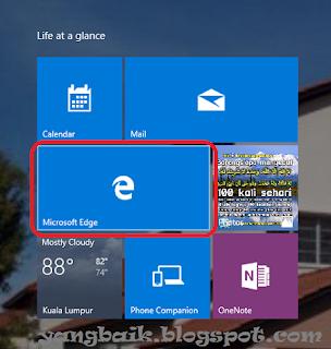 Paparan Microsoft Edge