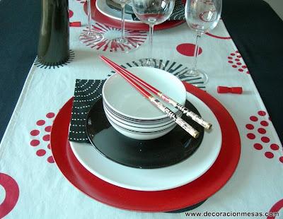 decoracion mesa estilo oriental 3