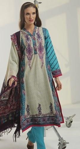 Alkaram winter 2014-15 Vol-2 RTW dress