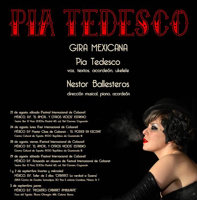 PIA TEDESCO GIRA MEXICANA 2015 MEXICO