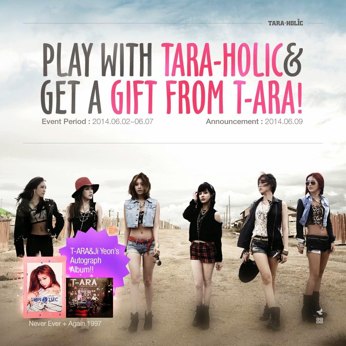Join T-ara's Album Giveaway on their 'TARA-HOLIC' App!