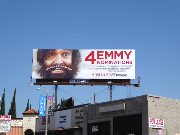 Last Man On Earth 2015 Emmy nom moustache billboard