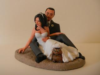 top cake orme magiche cake topper personalizzati sposi torta nuziale gatto