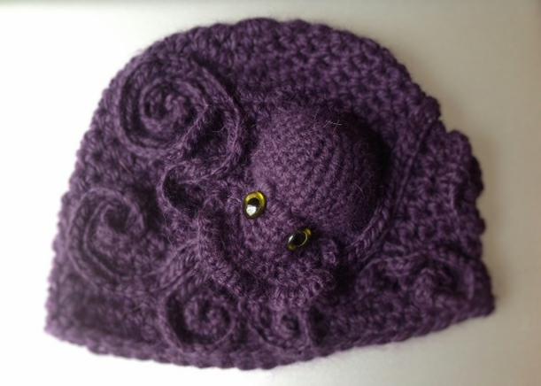 cricri boyer: Bonnet Poulpe au crochet
