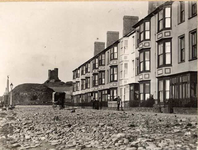Storm damage south Marine Terrace, Aberystwyth, 1927.