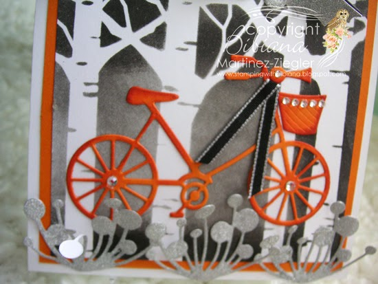 halloween bicycle card detail