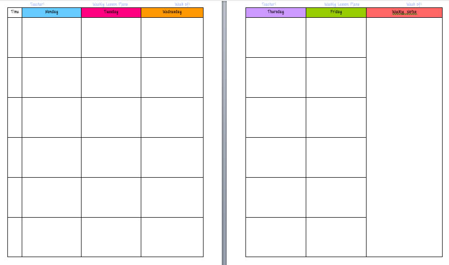 Lesson Plans Blank Template Funfpandroidco - Free printable lesson plan template blank