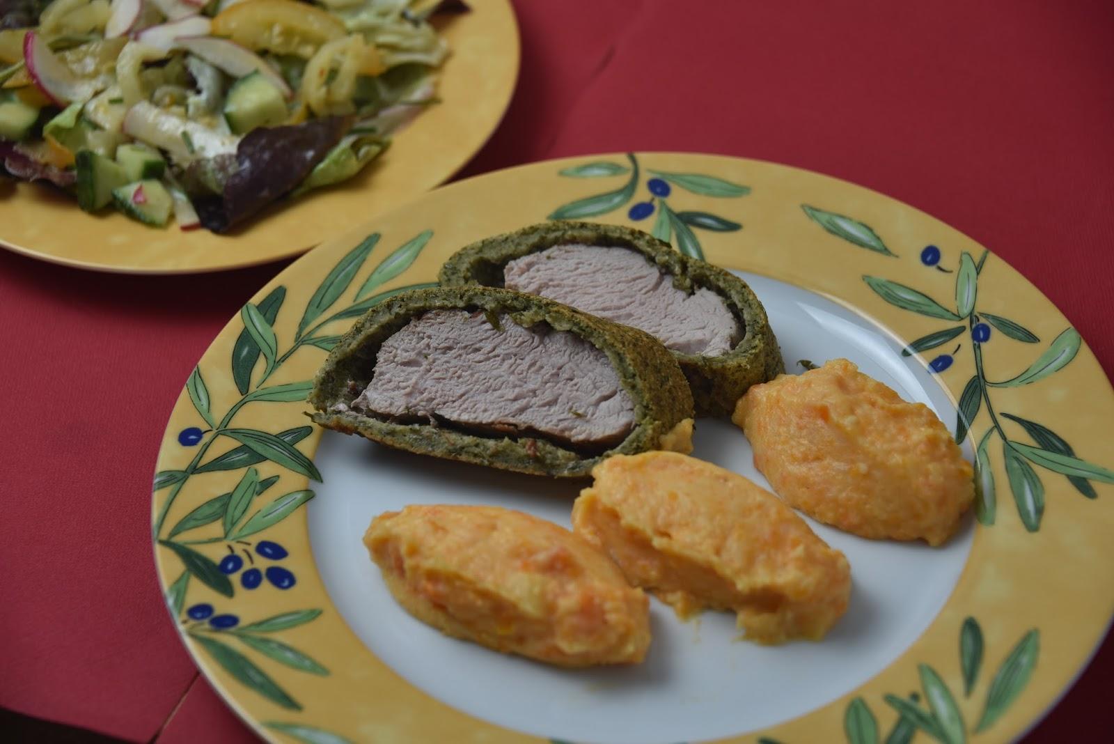 Mini Kühlschrank Mit Jelent : Schweinefilet im kräutermantel mit möhren kartoffelpüree sertés