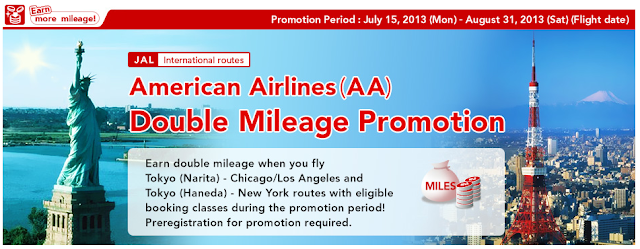 Double miles on select US routes operated by American Airlines