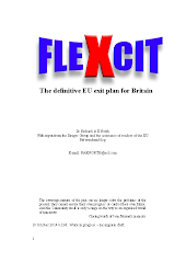 Flexcit: - The definitive  EU exit plan for Britain