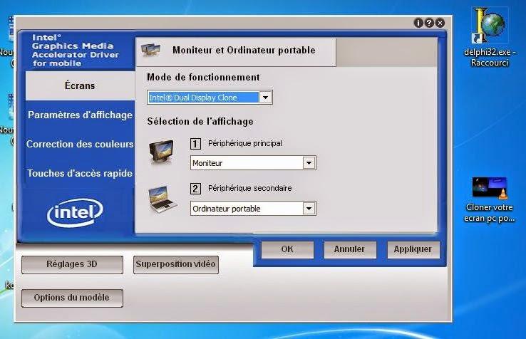 Electronique et electricite cloner votre ecran pc for Photo ecran pc portable