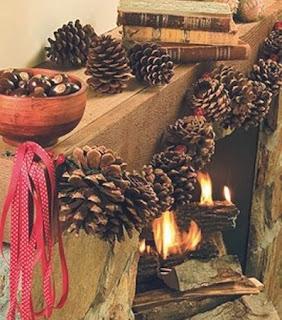 10 Ideas de Decoracion de Navidad con Piñas de Pino, II Parte