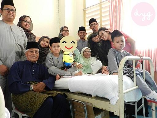 Wordless Wednesday : 1 Syawal Di Hospital