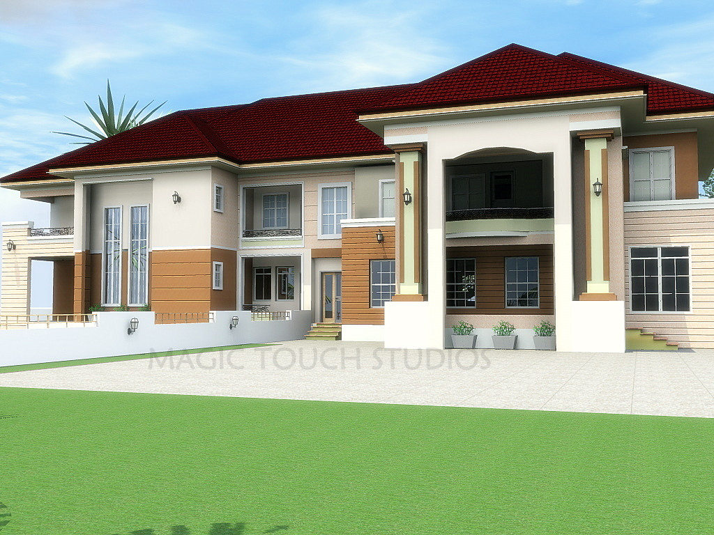 4 Bedroom Duplex With An 3 Bedroom Attached Block Of Flats