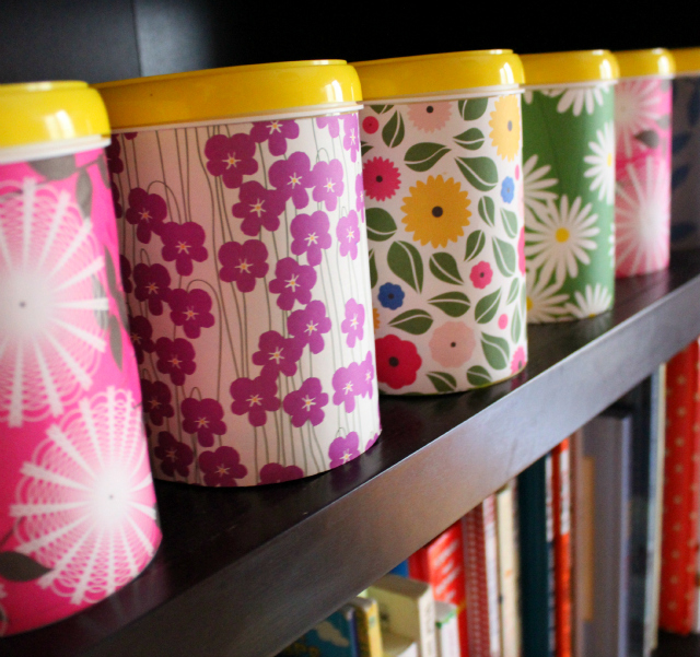 Decorative Storage Boxes. Repurposing Baby Formula Tubs Into Pretty Art  Supply Storage   Why Not?!